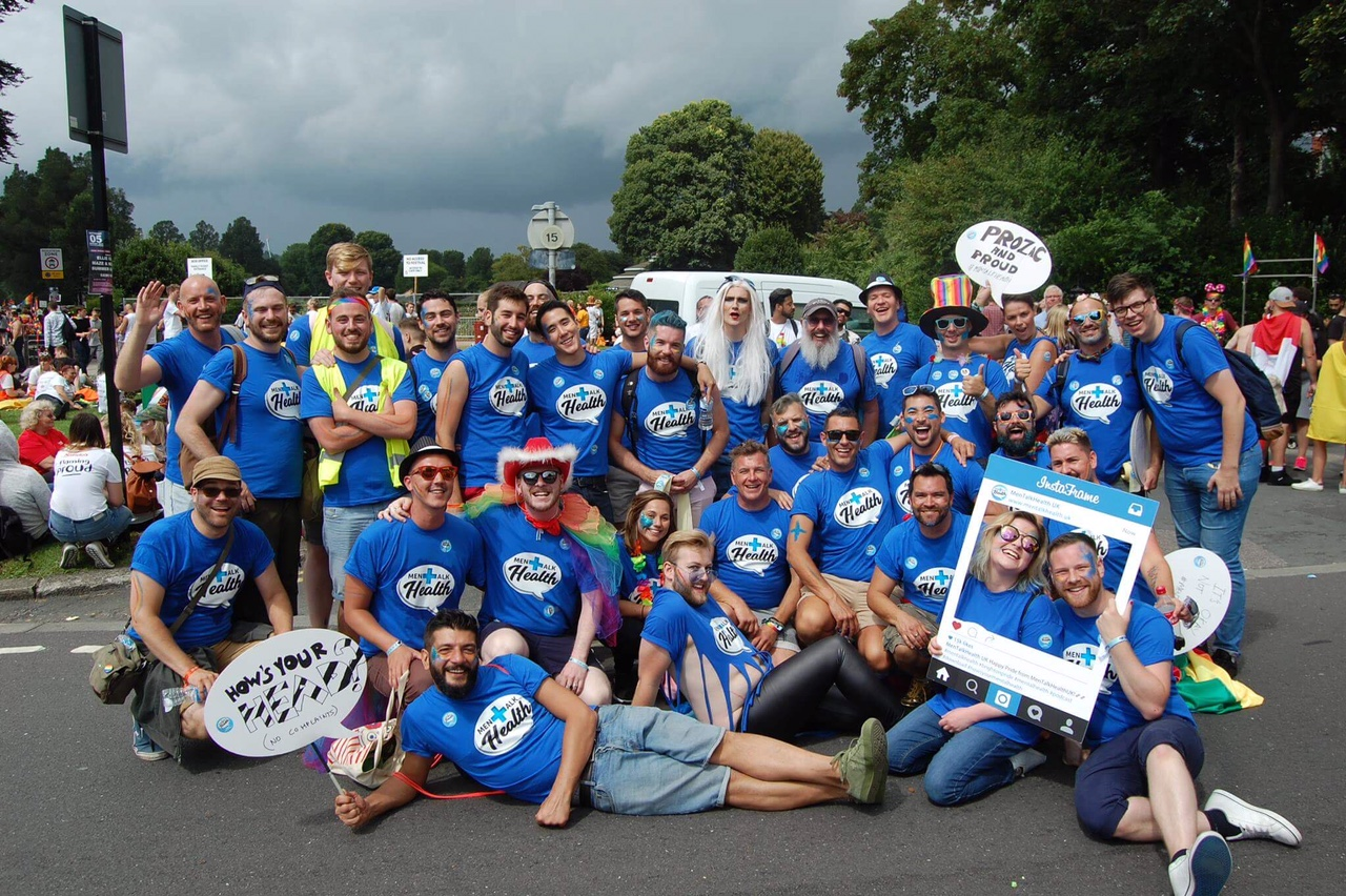The MenTalkHealth UK group at the end of Brighton Pride 2017